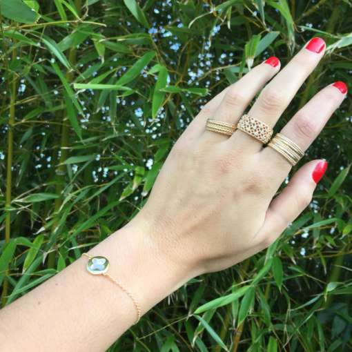 Bagues et bracelets en plaqué or 3 microns