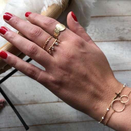 Bracelets et bagues plaqué or