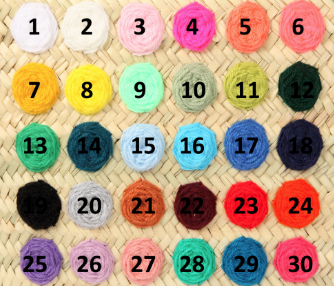 couleur fil panier