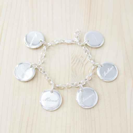bracelet médaille gravé