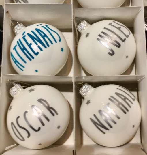 boules de Noël personnalisées boules de Noël sur mesure Boules de Noël prénoms