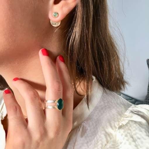 Boucles d'oreilles et bagues