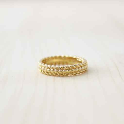 bague plaqué or les bijoux de cécile