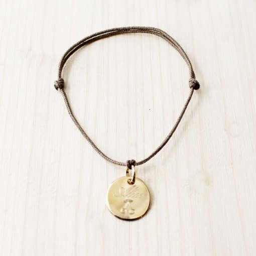 Bracelet cordons cerise